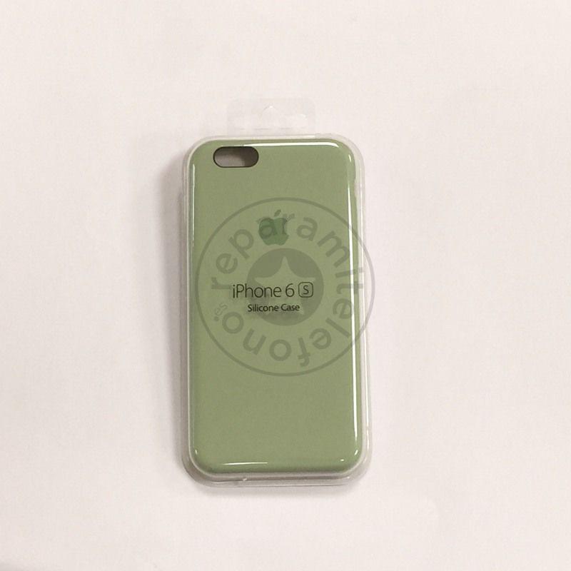 Funda original de silicona color verde menta para iPhone 6/6s